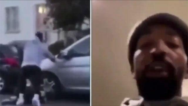 El jugador de NBA Jr. Smith es grabado dando una paliza a un hombre blanco: Uno de esos niños blancos hijos de p... me rompió la ventana y le pateé el culo