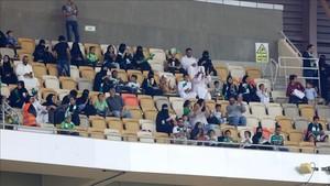 Las mujeres saudies pudieron disfrutar de su primer partido de fútbol en directo