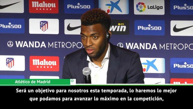 Lemar, en su presentación como nuevo jugador del Atlético de Madrid