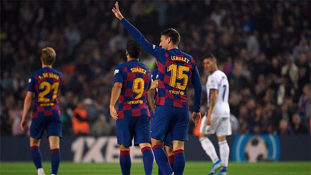 Lenglet abrió el marcador ante el Valladolid
