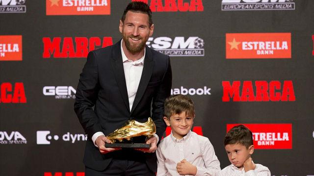 Leo Messi recibió su sexta bota de oro