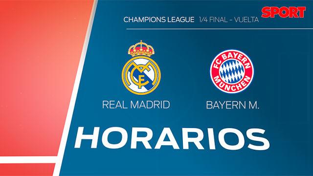 Los horarios del Real Madrid - Bayern Múnich en todo el mundo