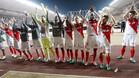 Los jugadores del Mónaco festejaron el título virtual con su afición