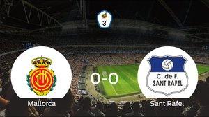 El Mallorca B y el Sant Rafel concluyen su enfrentamiento en el Son Bibiloni (Antonio Asensio) sin goles (0-0)
