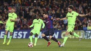 Messi firmó el 3-0 en el partido de vuelta de la Copa