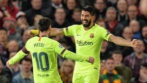 Messi y Luis Suárez, una pareja feliz