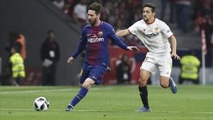 Messi puede repetir título ante el Sevilla