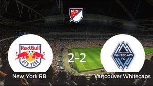 El New York RB y el Vancouver Whitecaps consiguen un punto tras empatar a 2 en su último partido