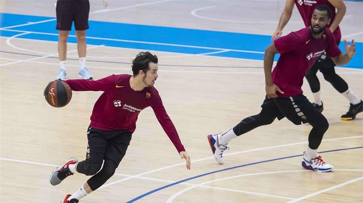 La plantilla del Barça de baloncesto vuelve a entrenar en grupo