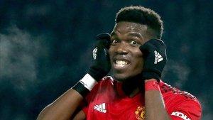 Porgba reacciona en un partido contra el Burnley