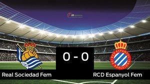 La Real Sociedad y el Espanyol sólo sumaron un punto (0-0)