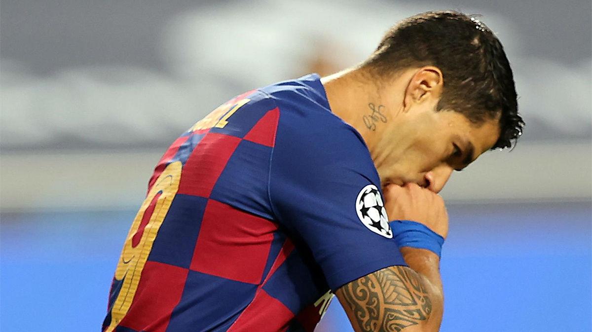Suárez fue el único goleador azulgrana de la noche, aunque no sirvió de nada