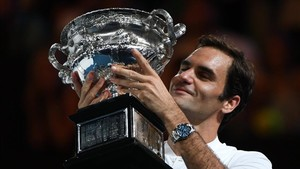 El tenista suizo se emocionó después de su victoria