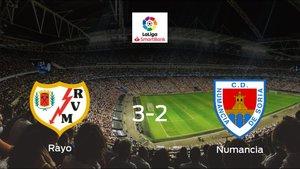 Triunfo del Rayo Vallecano por 3-2 frente al Numancia