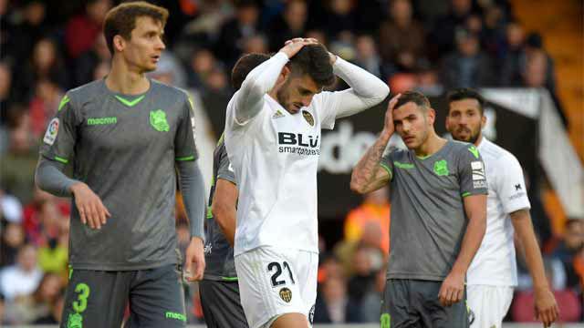 El Valencia se desinfla ante la Real Sociedad