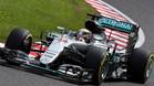 Rosberg, en acción en Suzuka