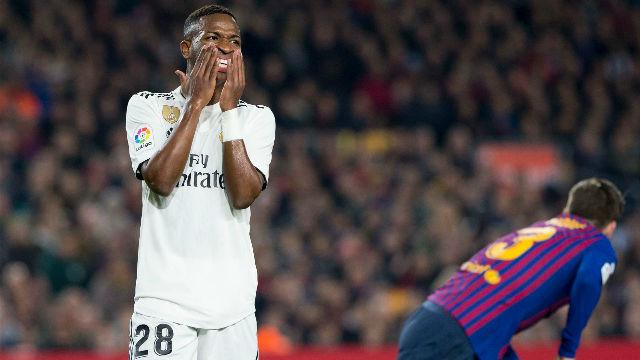Vinicius mostró su descaro en el Camp Nou... pero sin acierto