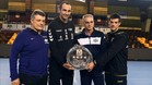 Xavi Pascual, César Montes, Rafa Guijosa y Pablo Gastón (2º entrenador del Anaitasuna)
