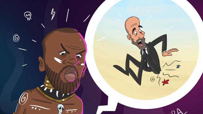 La caricatura colgada por el agente de Yaya Touré | Dimitri Seluk