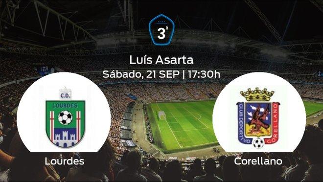 Jornada 5 de la Tercera División: previa del duelo Lourdes - Corellano