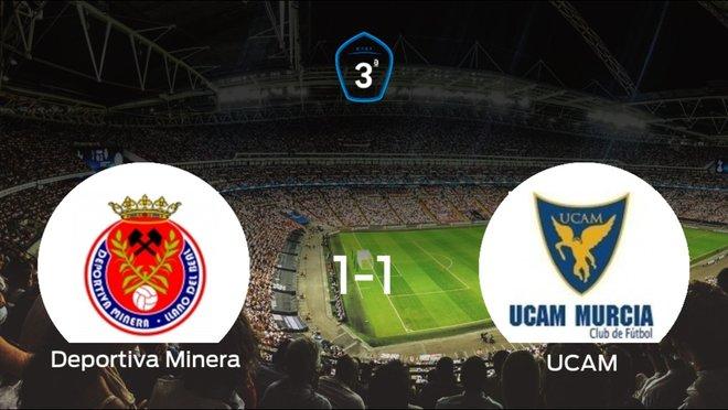 El UCAM B logra un empate a uno frente a la Deportiva Minera