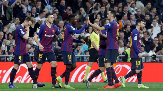 El 1x1 del Barça en el primer tiempo ante el Real Madrid