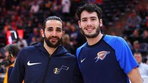 Abrines, junto a Ricky Rubio en una imagen del pasado mes de diciembre