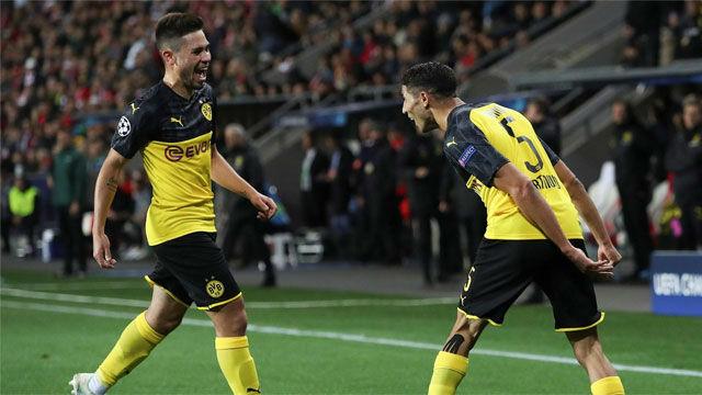 Achraf sirvió en bandeja los tres puntos al Dortmund