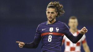 Adrien Rabiot, en su último partido con Francia (1-2 ante Croacia)