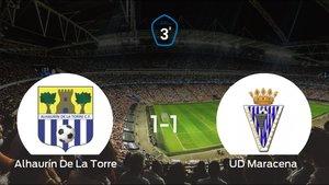 El Alhaurín De La Torre y el Unión Deportiva Maracena se reparten los puntos tras su empate a uno