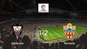 El Almería suma tres puntos a su casillero frente al Albacete (1-2)