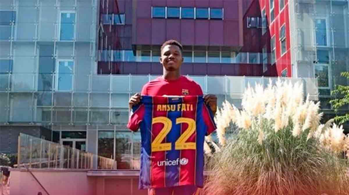 Ansu Fati llevará el número 22 en la camiseta azulgrana