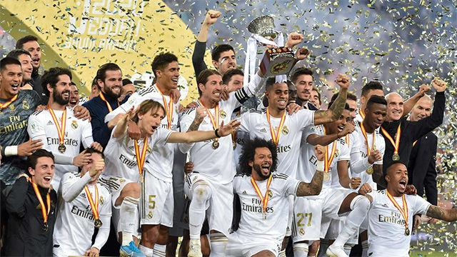 Así celebró el Real Madrid la victoria en la final de la Supercopa