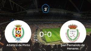 El Atlético de Pinto y el San Fernando de Henares suman un punto tras empatar a cero