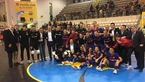 El Barça Lassa celebró su clasificación para la Final Four
