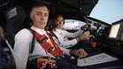 Carlos Sainz, al volante, y su copiloto Lucas Cruz