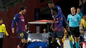 Dembélé y Aleñá fueron dos de los destacados e el FC Barcelona