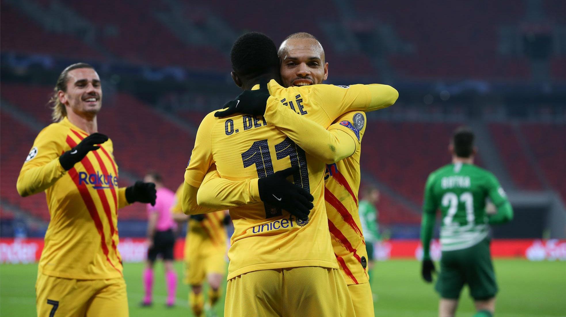 Dembélé se unió a la fiesta desde los 11 metros con este gol