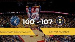 Denver Nuggets se queda con la victoria frente a Minnesota Timberwolves por 100-107