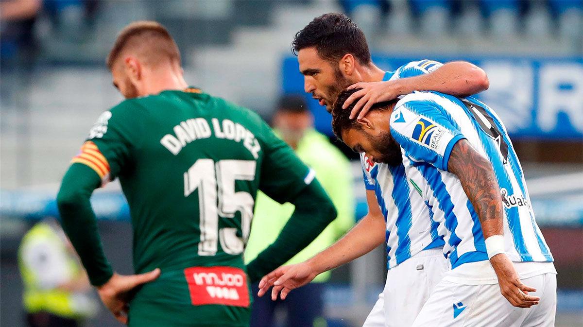 Dos errores defensivos condenan al Espanyol ante la Real Sociedad