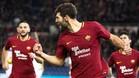 Federico Fazio celebra el gol con el que la Roma doblegó al Cagliari