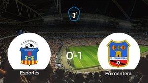 El Formentera gana 0-1 al Esporles en el Esporles