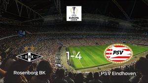 Goleada del PSV en el estadio del Rosenborg (1-4)