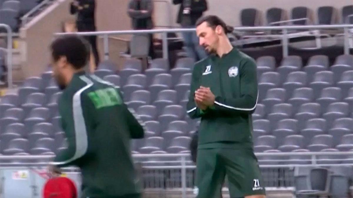 Ibrahimovic entrenó con el Hammarby