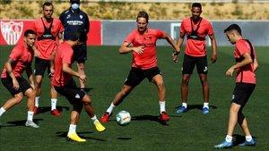Imagen de archivo de un entrenamiento del Sevilla