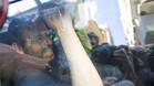 La imagen de Sandro Rosell dentro del coche policial