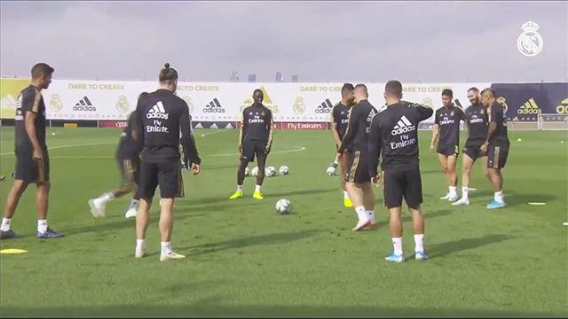 #IroniaOn: Nunca verás un rondo tan intenso como el del Real Madrid antes del choque ante el Sevilla