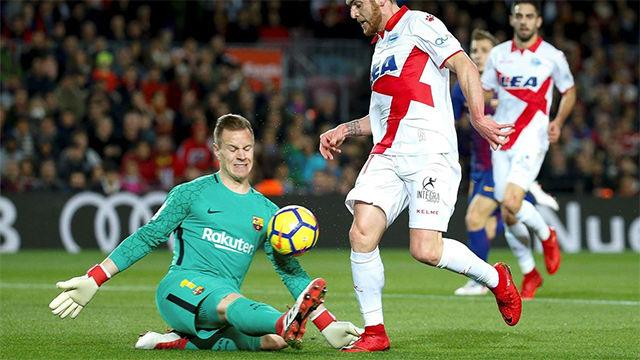 LALIGA | FC Barcelona - Alavés (2-1): Ter Stegen realizó una gran parada en la primera mitad