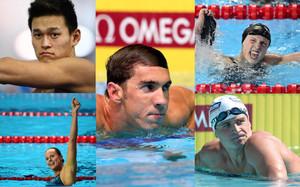 Las estrellas de la piscina en Río