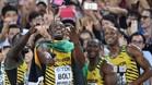 Los jamaicanos montaron la fiesta tras ganar el 4x100 metros
